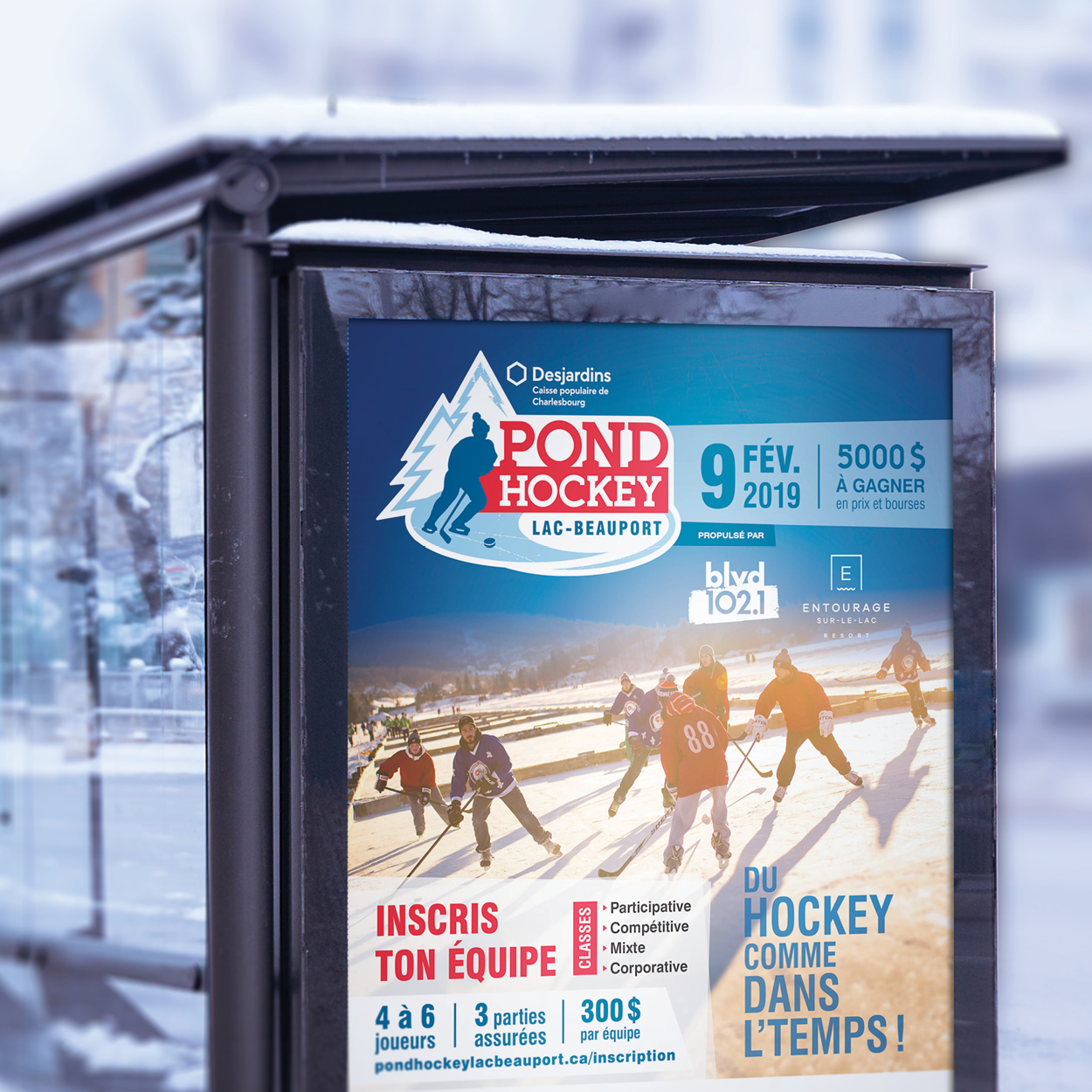 Pond Hockey Lac-Beauport - Identité et site web promotionnel